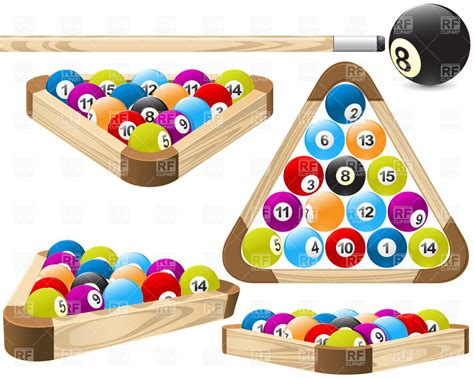 pool rack billiards vector image 4889 rfclipart
