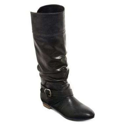 shoes olsenboye boots black boots small heel leather