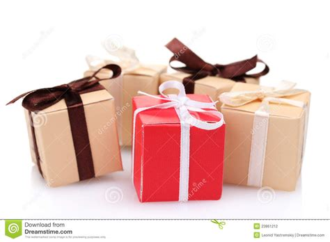 beautiful gifts beautiful gifts with bows stock photography image 23861212