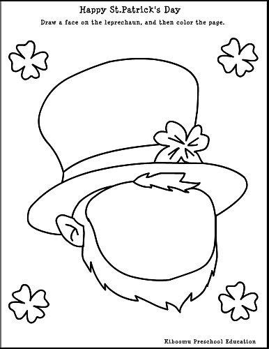 leprechaun coloring page kindergarten 25 best images about st patricks day on pinterest