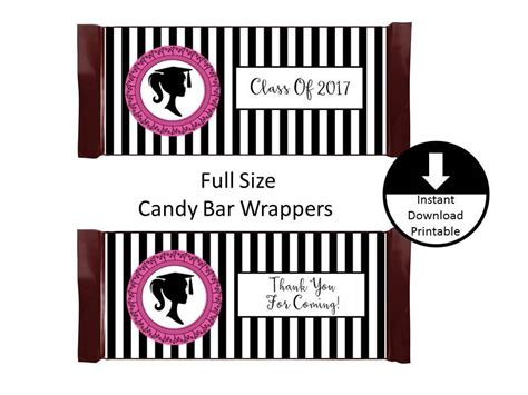 girl graduation candy bar wrapper full size graduation party