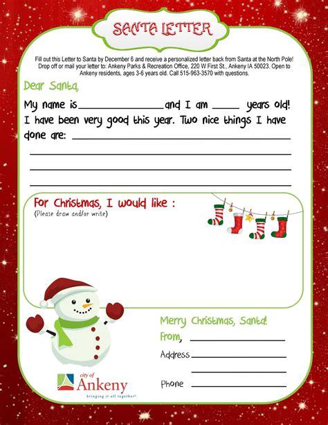 ankeny kids letter santa ankeny ia patch
