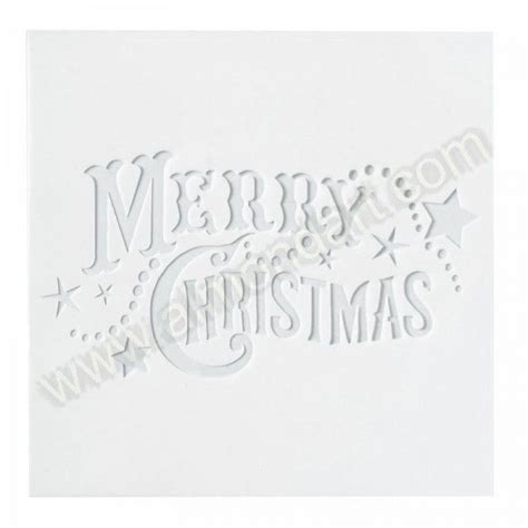 large merry christmas stencil ho ho ho pinterest