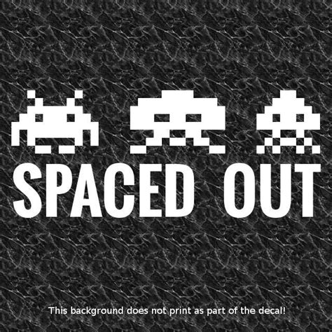 Jdm Sticker Pass By spaced out vinyl decal sticker space invaders retro gaming