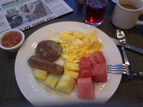 Garden Inn Free Breakfast by Honeydew Melon Water In Hotel Lobby Picture Of