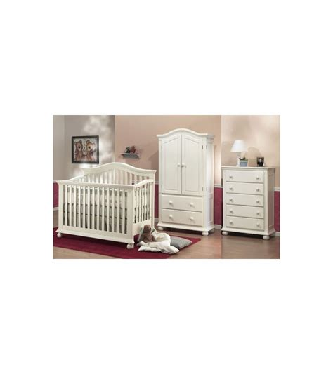 sorelle vista armoire sorelle vista 3 piece nursery set in french white crib