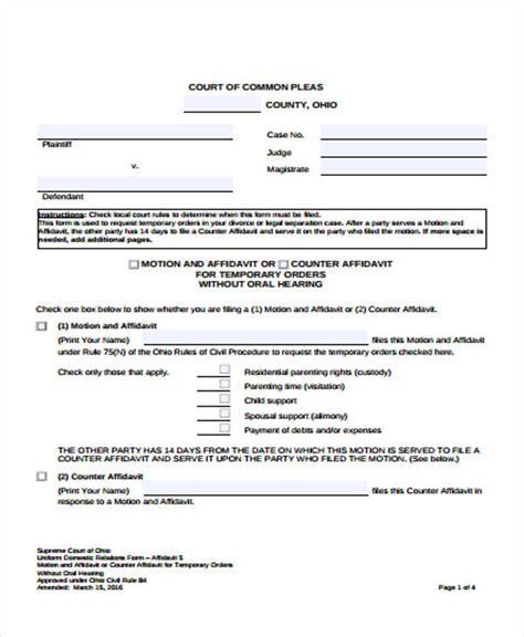 court affidavit template affidavit template free template customize and