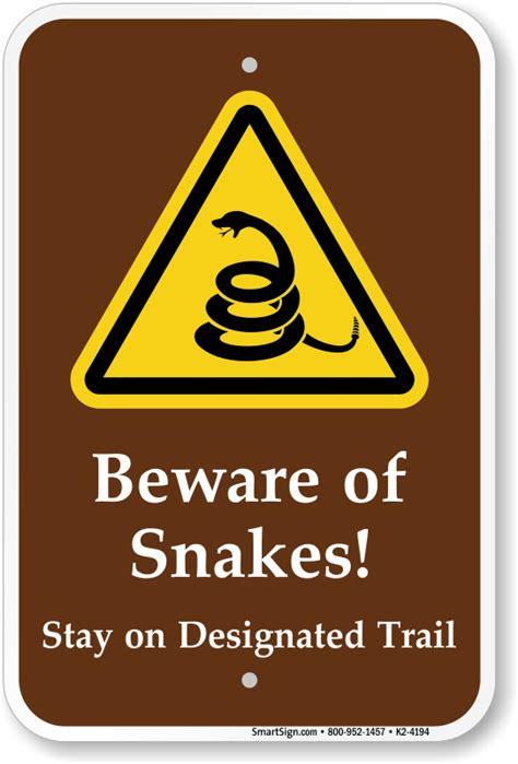 beware of signs beware of snakes warning sign sku k2 4194 mysafetysign