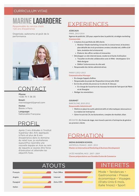 curriculum vitae exemple design meilleur exemple de cv mod 232 le cv anglais jaoloron