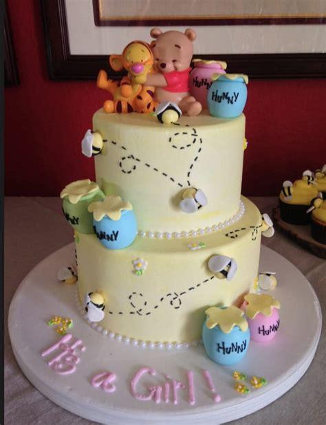winnie the pooh cake baby shower custom 2 tiered winnie the pooh cake for baby shower yelp