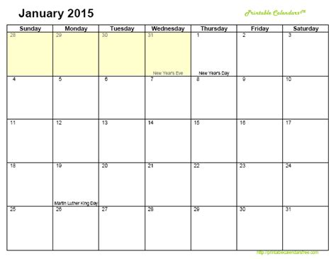 printable monthly calendar 2015 www imgkid com the