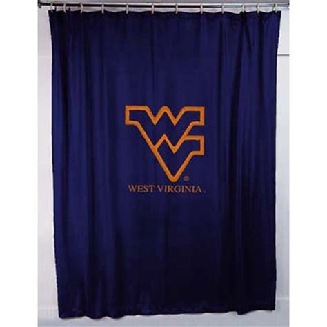 wvu curtains west virginia mountaineers locker room shower curtain