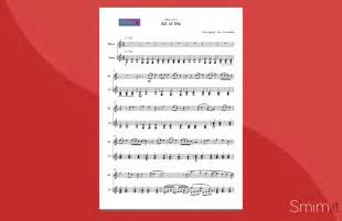 musetto testo all of me di legend spartito per flauto e pianoforte