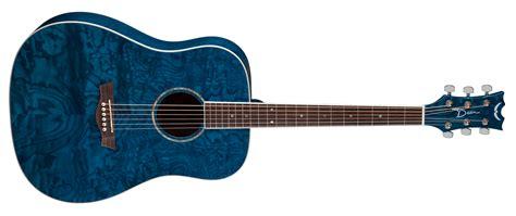 blue dean axs dread quilt ash trans blue dean guitars