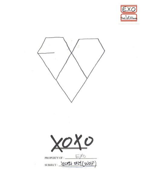 exo xoxo album exo team xoxo first year kiss version album cover