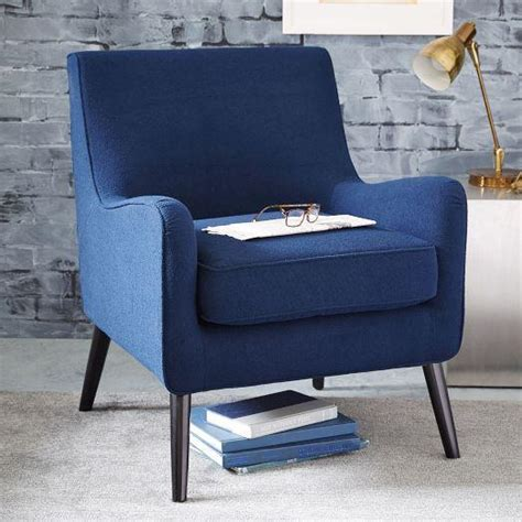 armchair books book nook navy armchair