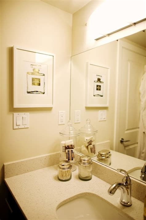 chanel bathroom chanel no 5 art contemporary bathroom the glitter guide