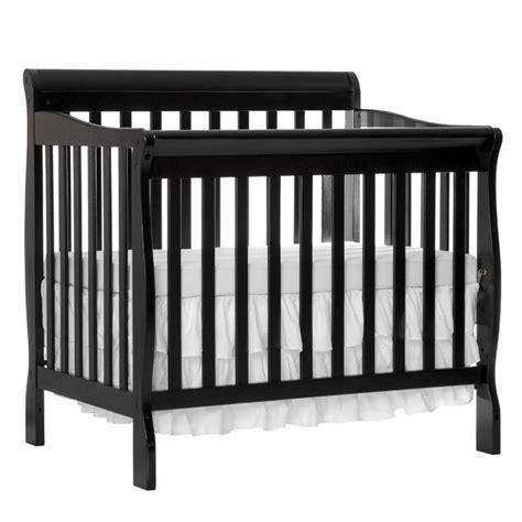 Black Mini Cribs On Me Aden Convertible 4 In 1 Mini Crib In Black 628 K
