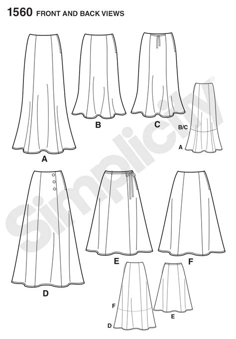 pattern review pattern sales simplicity 1560 misses skirts each in two lengths