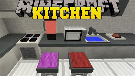 Kitchen Mod For Minecraft Pc Minecraft Kitchen Mod Microwave Toaster Blender Dish
