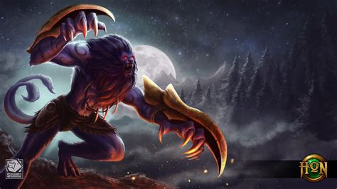hon characters throwback night hound for heroes of newerth by