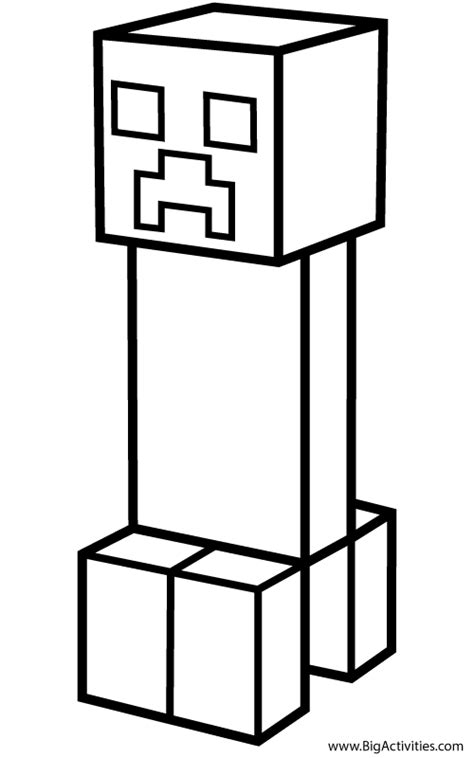 minecraft creeper coloring page creeper coloring page minecraft