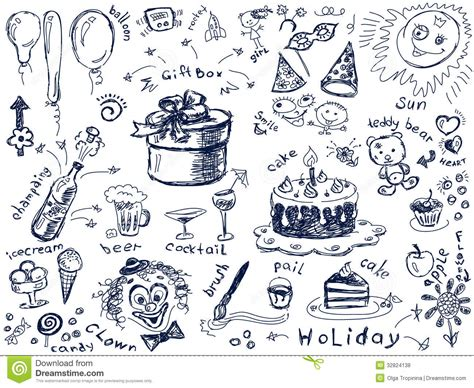 draw vector doodles royalty free stock photos image 32824138