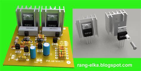 gambar layout lifier ocl merakit rangkaian elektronika 04 rangkaian ocl 68w
