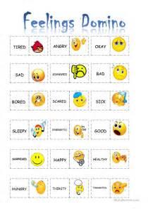 feelings domino worksheet free esl printable worksheets