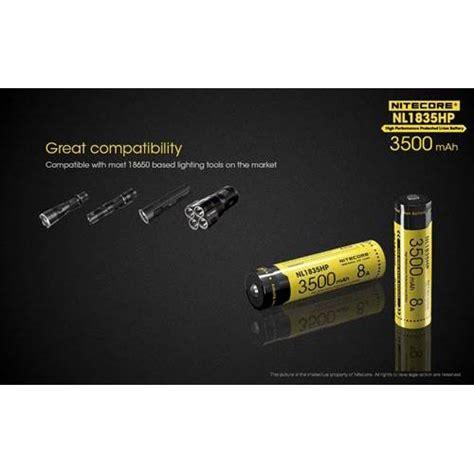 Nitecore 18650 Baterai Li Ion 3500mah 3 6v Nl1835 1 nitecore 18650 baterai li ion high performance 3500mah 3