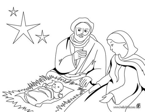 coloring page of baby jesus mary and joseph joseph mary and jesus coloring pages hellokids com