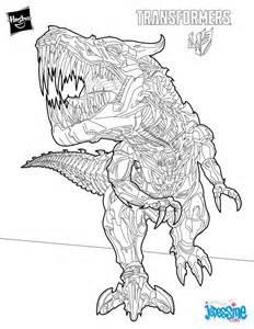 coloriage dinosaure robot