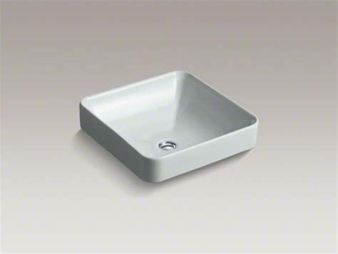 kohler vox sink square kohler vox r square vessel above counter bathroom sink