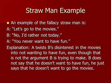 straw man definition the straw man logical fallacy is