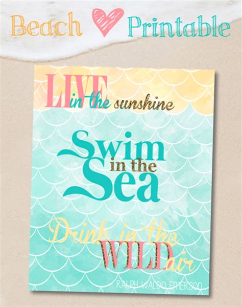 printable beach quotes diy ocean sunset painted pallet art more best of the