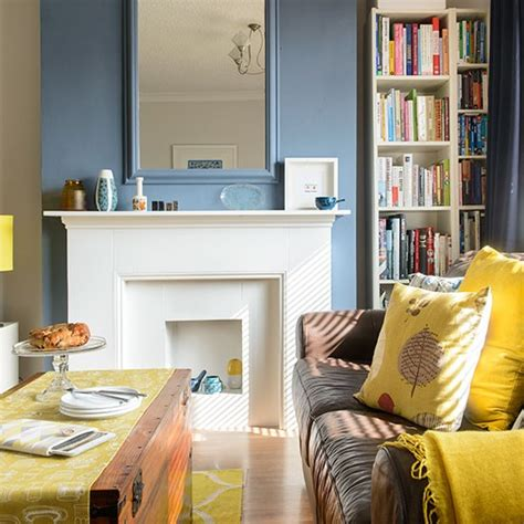 blue yellow living room blue and yellow living room with printed fabrics