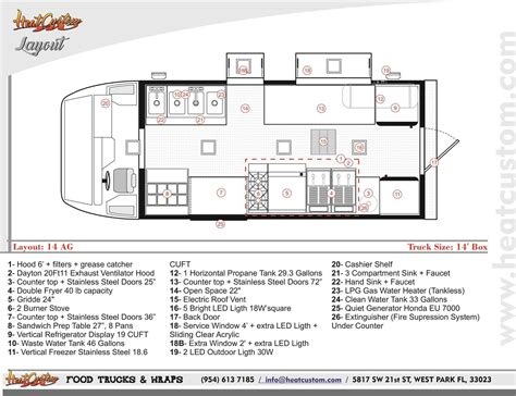 truck cer floor plans food truck equipment layout arch dsgn