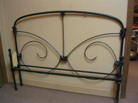 Bed Rails For Sale Full Size Iron Bed W Rails For Sale Antiques Com