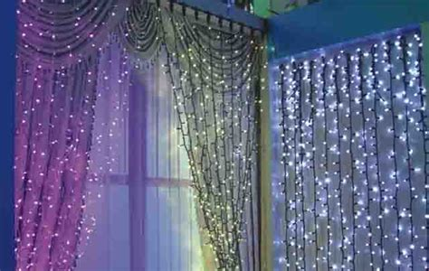 lighted curtains led copper string lights curtain light christmas jpg
