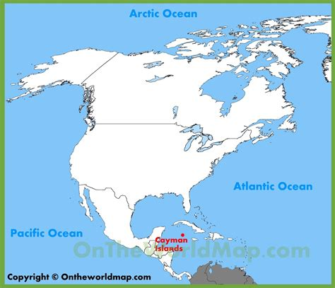 where are the cayman islands on a world map cayman islands location on the america map