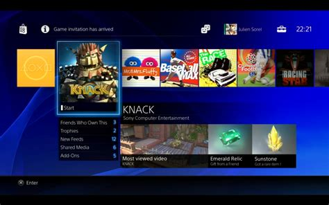 ps4 home screen the gce
