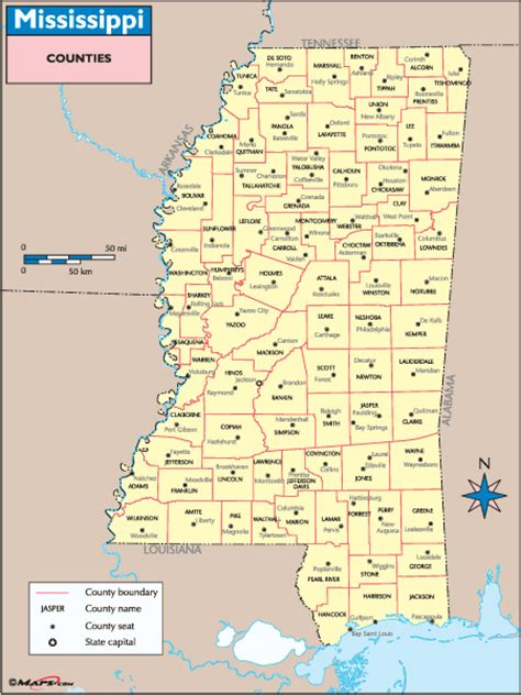 mississippi county map map of mississippi counties