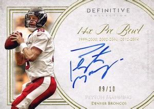 2015 topps definitive collection football checklist, info