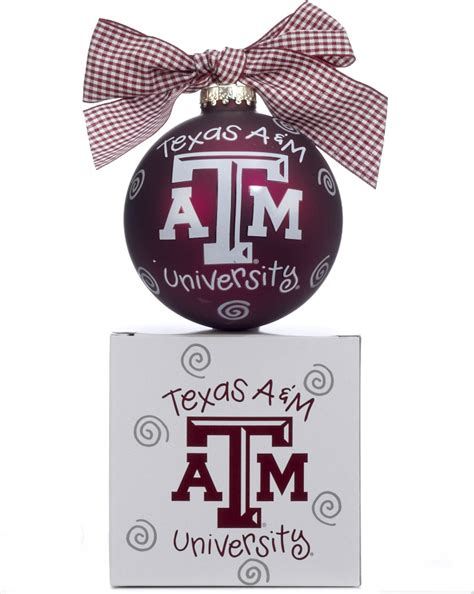 texas a m university logo personalized ornament