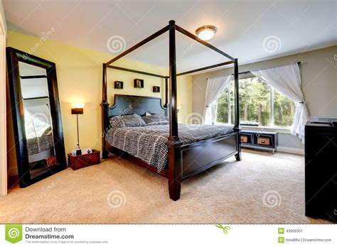 pole for bedroom carved wood bed with high poles bedroom interior stock