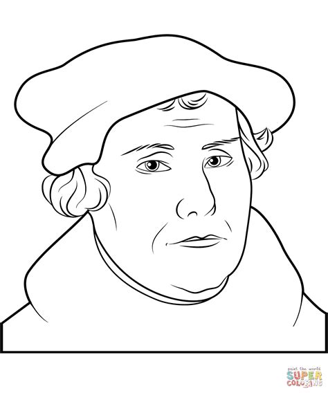 martin luther coloring page free printable coloring pages