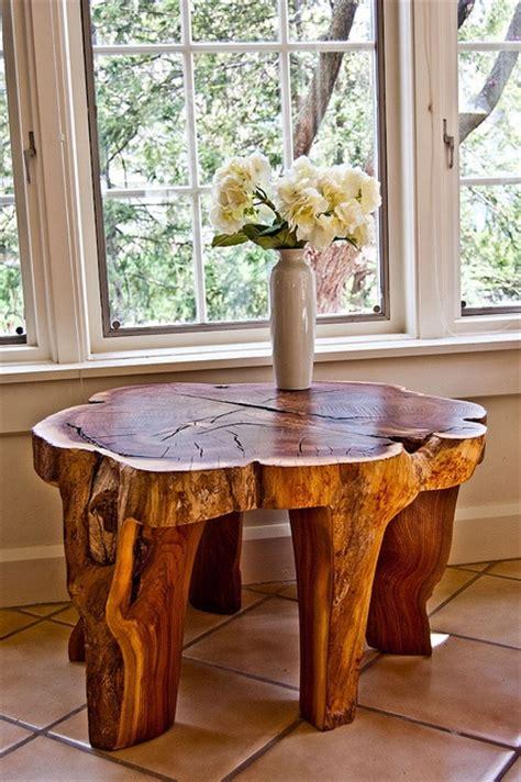 Fabriquer Table en tronc d arbre   BricoBistro
