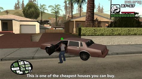 house buying game gta san andreas tips tricks how to buy a house earlier in the game youtube