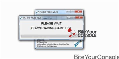 bite your console rilasciato ps3 iso tools v1 94b
