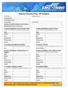 isf template fill online printable fillable blank